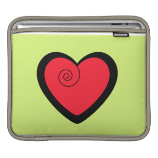 Red fancy heart personalized gifts iPad sleeves