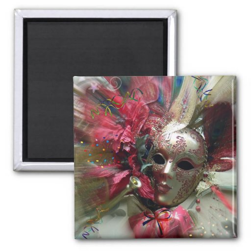 Red Fantasy Angel 2 Inch Square Magnet