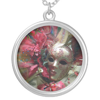 Red Fantasy Angel Round Pendant Necklace
