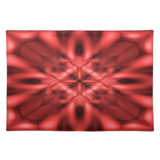 Red fantasy pattern place mat