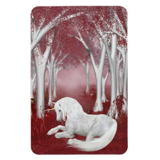 Red fantasy rectangular photo magnet