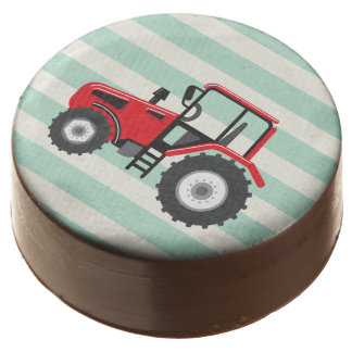 Red Farm Tractor Chocolate Covered Oreo