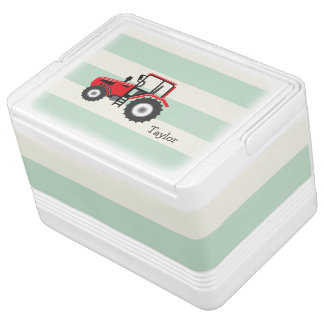 Red Farm Tractor Cooler