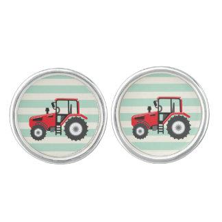 Red Farm Tractor Cufflinks