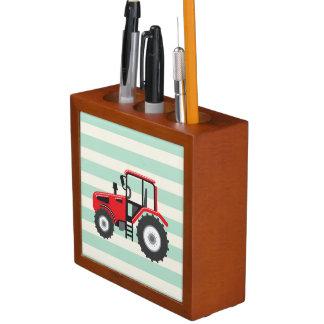 Red Farm Tractor Desk Organizer