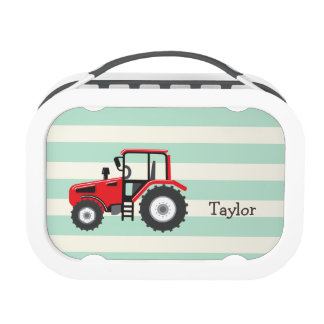 Red Farm Tractor Lunch Box