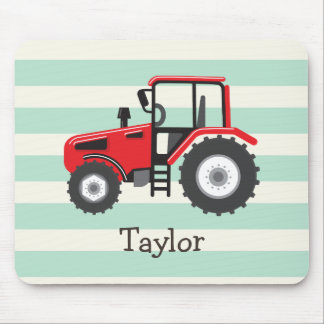 Red Farm Tractor Mouse Pad