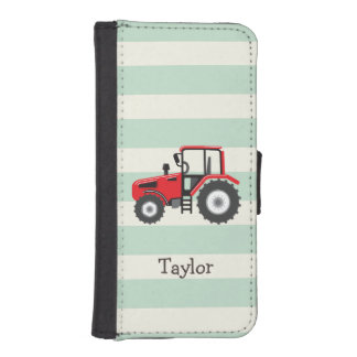 Red Farm Tractor Phone Wallets