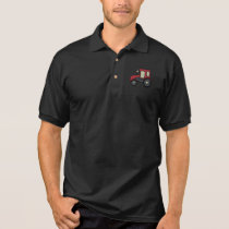 Red Farm Tractor Polo Shirt