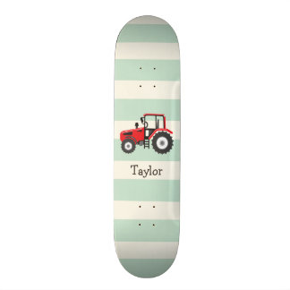 Red Farm Tractor Skate Board Decks