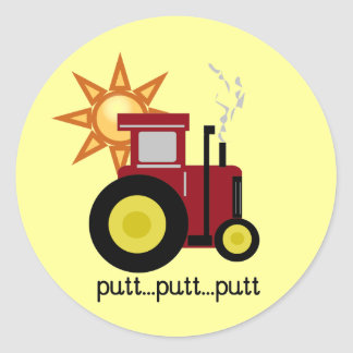 Red Farm Tractor T-shirts and Gifts Classic Round Sticker
