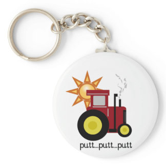 Red Farm Tractor T-shirts and Gifts Keychain