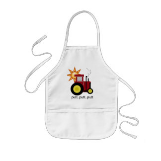 Red Farm Tractor T-shirts and Gifts Kids' Apron