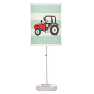 Red Farm Tractor Table Lamp