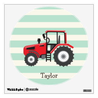 Red Farm Tractor Wall Sticker