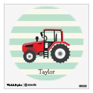 Red Farm Tractor Wall Sticker