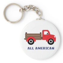 Red Farm Truck Keychain