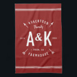 """Red Farmhouse Arrow Monogram 
