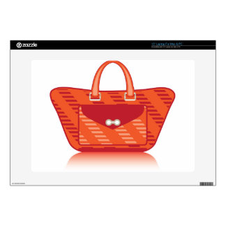 Red Fashion Bag Decal For Laptop