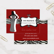 red fashion boutique Business Cards