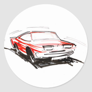 Red Fast Car Stickers