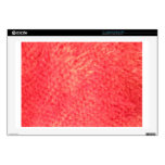 Red Faux Fur Decals For Laptops