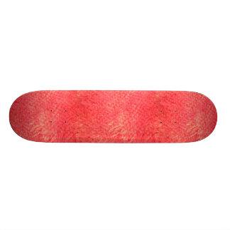 Red Faux Fur Skateboard