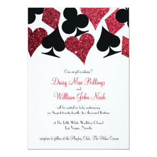 Superb Red Faux Glitter Las Vegas Wedding Invitation Good Ideas