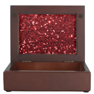 Red Faux Glitter Memory Box