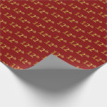 [ Thumbnail: Red, Faux Gold 12th (Twelfth) Event Wrapping Paper ]