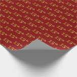 [ Thumbnail: Red, Faux Gold 15th (Fifteenth) Event Wrapping Paper ]