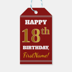 18th birthday gift tags gift enclosures zazzle
