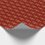[ Thumbnail: Red, Faux Gold 18th (Eighteenth) Event Wrapping Paper ]