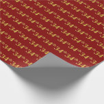 [ Thumbnail: Red, Faux Gold 34th (Thirty-Fourth) Event Wrapping Paper ]