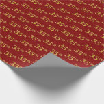[ Thumbnail: Red, Faux Gold 35th (Thirty-Fifth) Event Wrapping Paper ]