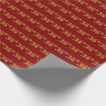 [ Thumbnail: Red, Faux Gold 36th (Thirty-Sixth) Event Wrapping Paper ]