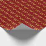 [ Thumbnail: Red, Faux Gold 38th (Thirty-Eighth) Event Wrapping Paper ]