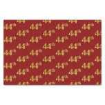 [ Thumbnail: Red, Faux Gold 44th (Forty-Fourth) Event Tissue Paper ]