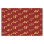 [ Thumbnail: Red, Faux Gold 46th (Forty-Sixth) Event Tissue Paper ]