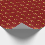 [ Thumbnail: Red, Faux Gold 4th (Fourth) Event Wrapping Paper ]