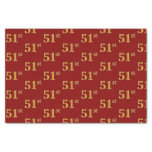 [ Thumbnail: Red, Faux Gold 51st (Fifty-First) Event Tissue Paper ]