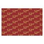 [ Thumbnail: Red, Faux Gold 52nd (Fifty-Second) Event Tissue Paper ]