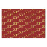 [ Thumbnail: Red, Faux Gold 53rd (Fifty-Third) Event Tissue Paper ]
