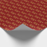 [ Thumbnail: Red, Faux Gold 55th (Fifty-Fifth) Event Wrapping Paper ]