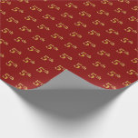 [ Thumbnail: Red, Faux Gold 5th (Fifth) Event Wrapping Paper ]