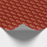 [ Thumbnail: Red, Faux Gold 60th (Sixtieth) Event Wrapping Paper ]
