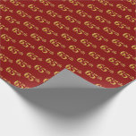 [ Thumbnail: Red, Faux Gold 65th (Sixty-Fifth) Event Wrapping Paper ]