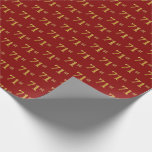 [ Thumbnail: Red, Faux Gold 71st (Seventy-First) Event Wrapping Paper ]