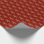 [ Thumbnail: Red, Faux Gold 78th (Seventy-Eighth) Event Wrapping Paper ]