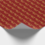 [ Thumbnail: Red, Faux Gold 82nd (Eighty-Second) Event Wrapping Paper ]